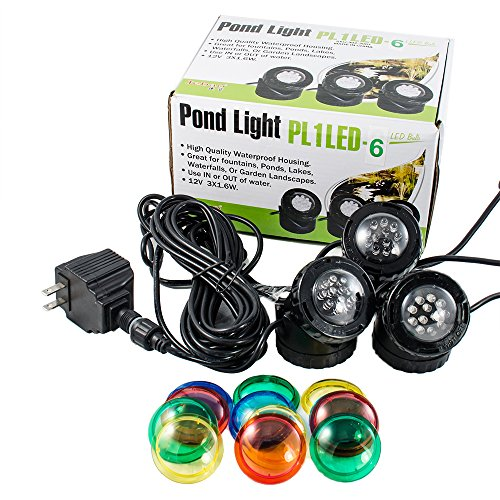 Set Of 3 Jebao 12-Led Submersible Underwater Pool Pond Fountain Lights Pl1Led Usa Seller