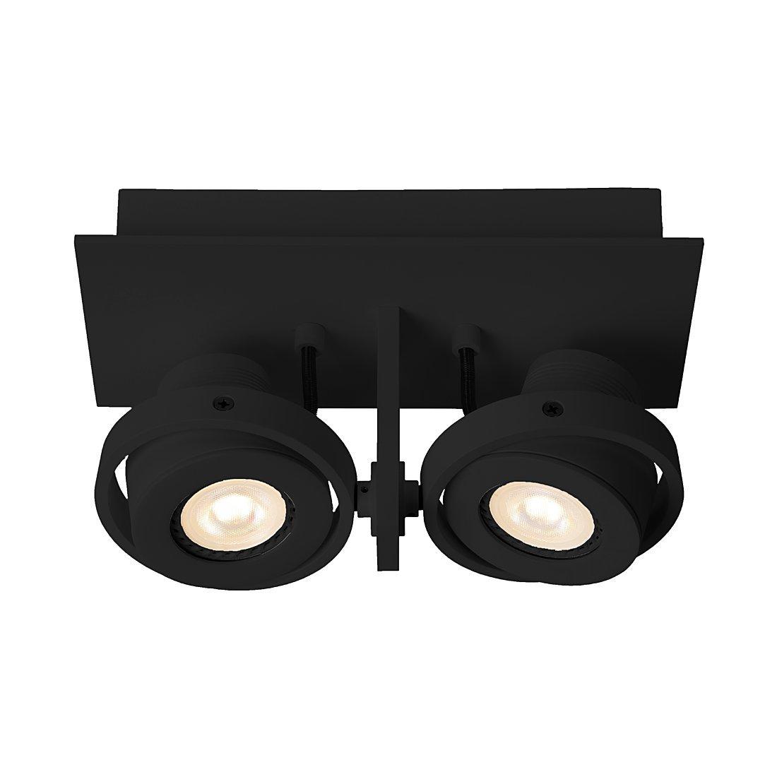Zuiver 5500612 Luci-2 LED, Stahl, schwarz