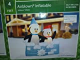 Penguin Snowball Fight Christmas Airblown Inflatable