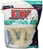 KONG Premium Treats 6-Inch Dental Rawhide Treat Value Bag for Dogs, Medium