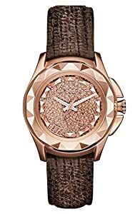 Karl Lagerfeld KL1045 Rose Gold Dial Brown Leather Ladies Watch
