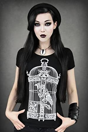 Restyle Raven In Victorian Bird Cage Tattoo Gothic Pin Up ...