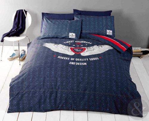 Vintage Multi Patchwork Duvet Set Quilt Cover Bedding W//Pillowcase Pink Blue