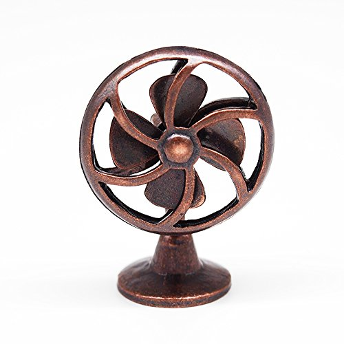 1:12 Old Fashioned Lobby Fan Bronze Furniture Miniature Doll House Accessory Toy