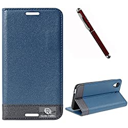 DMG HTC Desire 626 626G+ Flip Cover, DMG PRaiders Premium Magnetic Wallet Stand Cover Case for HTC Desire 626 626G+ (Pebble Blue) + 4in1 Laser Torch Stylus Pen