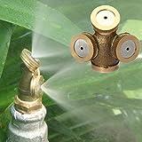 Futaba 3 Hole Adjustable Brass Spray Misting Nozzle Gardening Sprinklers