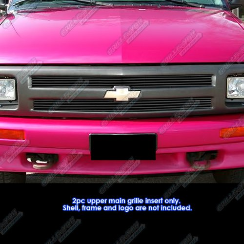 1994-1997 Chevy S-10/Blazer Pickup Black Billet Grille Grill Insert (S 10 Grill compare prices)