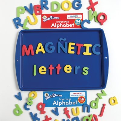 Center Enterprise CE6908 READY2LEARN Lowercase English/Spanish Magnetic Alphabets (Pack of 54) - 1