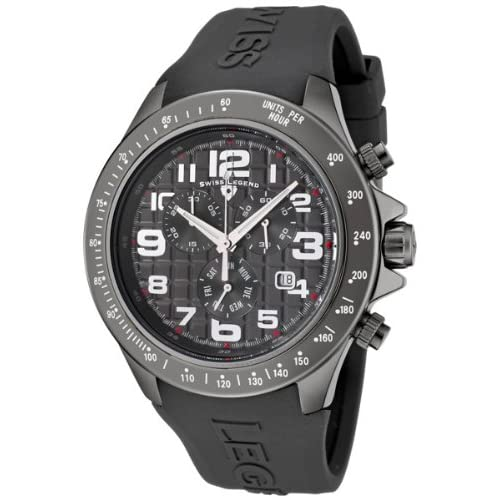 Swiss Legend Eograph Men's Quartz Watch with Grey Dial Chronograph Display and Grey Silicone Strap sl-30041-gm...