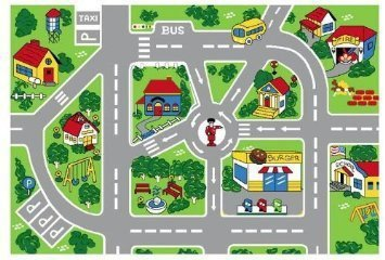 City Map Children S Area Rug 29 99 Free Shipping