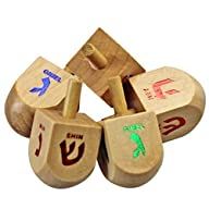 The Dreidel Game! Classic Colored Woo…