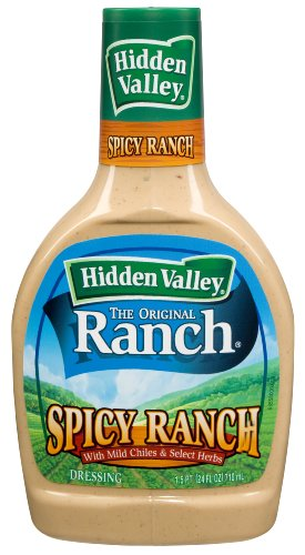 Hidden Valley Spicy Ranch Salad Dressing, 24-Ounce Plastic Bottle (Pack of 6)