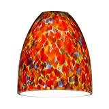 Bell Art Glass Shade - Lipless with 1-5/8-Inch Fitter Opening