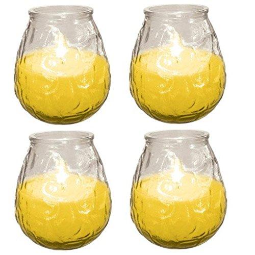 4 x Prices Candles Glo-Lite Citronella