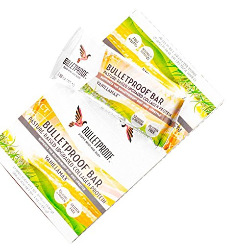 Bulletproof Vanilla Collagen Bar, Net Wt. 1.58 oz (12 pack)