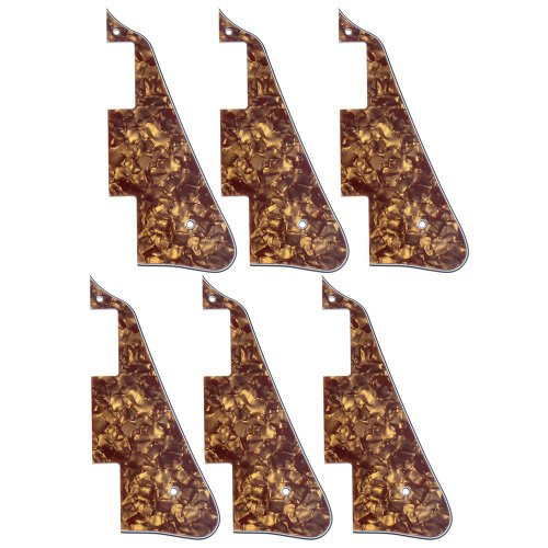 6Pcs New Cinnamon Pearl Electric Guitar Pickguard For Gibson Les Paul Guitar Replacement