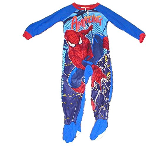 Marvel Comics Toddler Boy's 12m - 5t Footed Pajamas - Amazing Spiderman Spidey