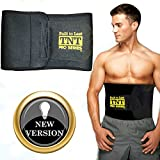 TNT Waist Trimmer Ab Belt: Stomach Fat Burner & Toner ★ Extra Wide to Cover Entire Midsection ★ Uniquely Designed to Repel Sweat & Moisture w/ Anti-Slip Grid Technology ★ No Slipping or Movement of Fabric! Premium Body Shaper, Slimmer & Sweat Wrap with Back Support - All Backed By Our Life-time Money Back Guarantee