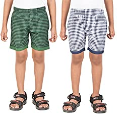 Gkidz Pack of 2 Boys Checked Shorts