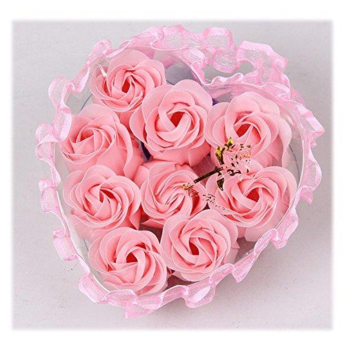 Yiilisu 5 set/lot Rose Sapone Fiore Romantico Bagno Doccia Regali Decorazione Petali del Sapone di Nozze in Regalo Confezione (polvere)