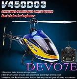 ラジコン ヘリコプター ワルケラV450D03 6CH   + Devo7E送信機(プロポ)