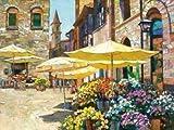 Siena Flower Market by Behrens, Howard - fine Art Print on PAPER : 54 x 41 Inches