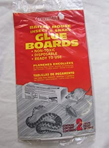 Catchmaster Baited Mouse Insect & Snake Glue Boards Contains 2 Traps Per Pack