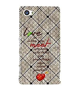 Love Quotes 3D Hard Polycarbonate Designer Back Case Cover for Sony Xperia Z5 Compact :: Sony Xperia Z5 Mini