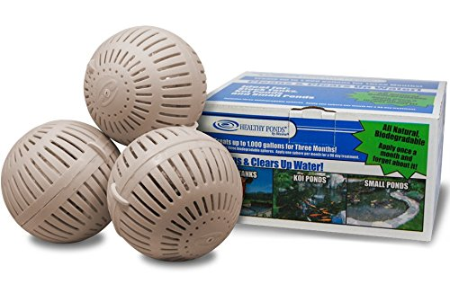 Healthy Ponds 51117 Aquasphere Pro Biodegradable Pond Treatment 3-Pack, Each Sphere Treats up to 1,000 Gallons (1000 Gal Water Tank compare prices)