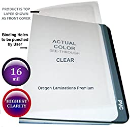 Heavy 16 Mil Clear Plastic Binding Covers Report Cover Sheets 8-1/2 x 11 Qty 25