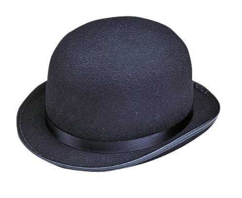 Permafelt Black Derby Bowler Hat Costume Hat 7 3/8 Promotional Hat 479