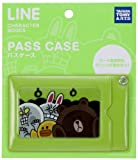 LINE CHARACTER パスケース/グリーン/ぎゅうぎゅう