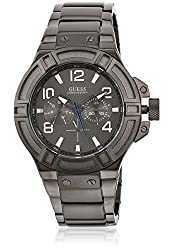 GUESS Rigor Analog Grey Dial Mens Watch - W0218G1