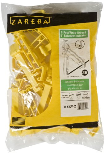 Zareba It5Xy-Z Snap-On 5-Inch Extender Insulator, Yellow, 25 Per Bag