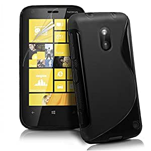 Smart Choice Anti-skid Soft TPU Back Case Cover for Nokia Lumia 620 (Black)