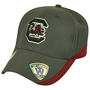 Buy NCAA Top of the World South Carolina Gamecocks Matchplay Grey Flex Fit Hat Cap by Top of the World