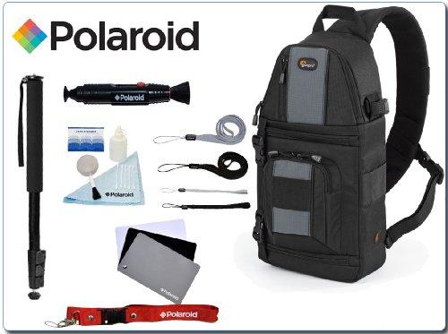 "Lowepro Slingshot 102 AW SLR Camera Backpack Bag and a 67"" Monopod/Digital Grey Card/5 Pc. Cleaning Kit/Lenspen/4 Pack Wrist Strap & Neck Strap Combo Kit"