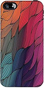 Snoogg Vector Abstract Hand Drawn Waves Texture Designer Protective Back Case...