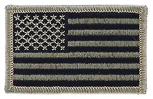 Patch écusson brodé drapeau usa etats unis americain camouflage noir airsoft