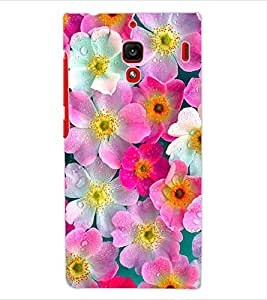 ColourCraft Lovely Flowers Design Back Case Cover for XIAOMI REDMI 1S