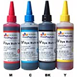 PrintPayLess® Brand 400ml UV resistant Refill Ink, Bulk Ink for HP 932 933(non-OEM) CIS/CISS and refillable cartridges : Officejet: 6100, 6100 - H611a, 6600, 6700, 6700 Premium, 7110 - H812a, 7610, 7612.