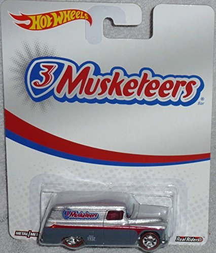 Hot Wheels Pop Culture Real Riders 3 Musketeers Candy - '55 Chevy Panel