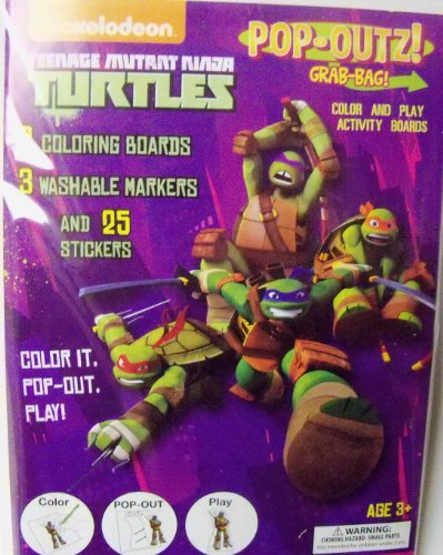 Teenage Mutant Ninja Turtles Pop-Outz Grab Bag ~ Color, Pop-out, Play (Turtle Power) - 1