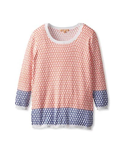 Kier & J Women's 2-Tone Circle Print Sweater