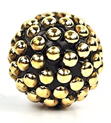 gold dotted metal Spherical cabinet cupboard Knob pulls Handle 1.5