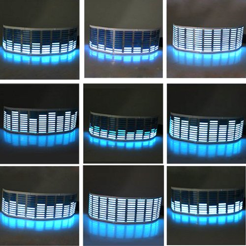 "Samyo Sound Music Beat Activated Car Stickers Equalizer Glow Blue Led Light (45Cm X 11Cm (18"" X 4.3""))"