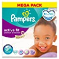 Pampers Active Fit Nappies Size 5+ Mega Pack 68 per pack Case of 1
