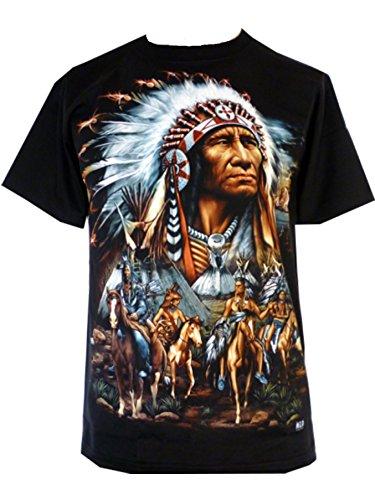 mens-eagle-wolf-biker-native-american-indian-people-moon-motorbike-t-shirt-l-design-2