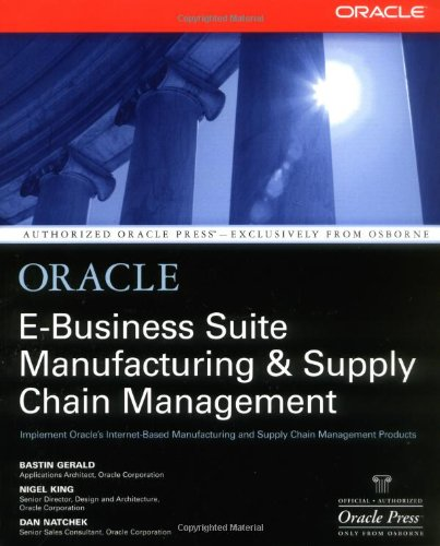 Oracle E-Business Suite Manufacturing & Supply