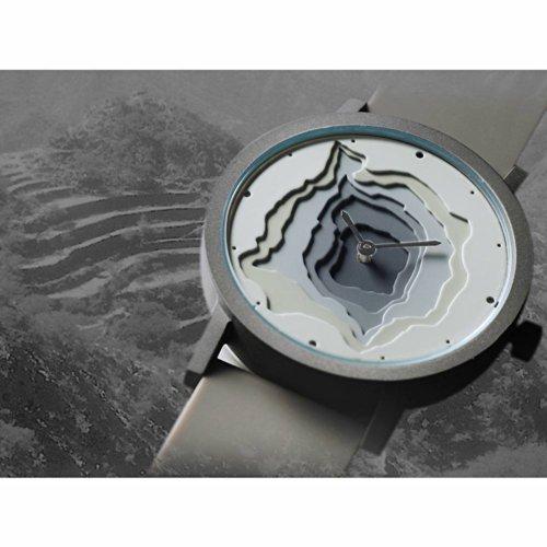 Projects Uhr (SITE) - Terra-Time Gebürstetem Edelstahl (40mm) Silikon Grau Unisex